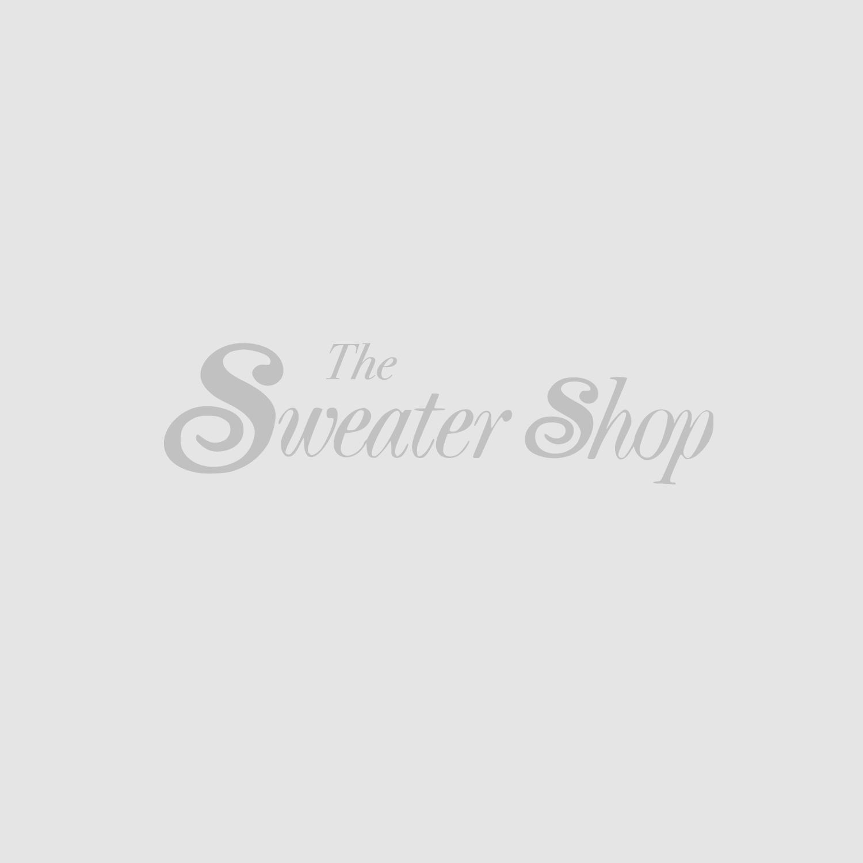 Shamrock Sprig Silk Scarf PF5001-Navy-One Size