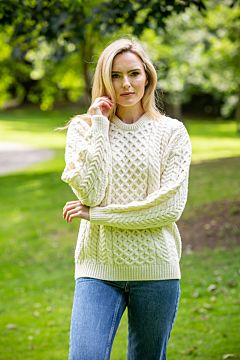 Natural Lightweight Irish Sweater