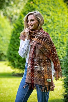 Suantrai of Ireland Scarf Brown Rust 87x15 in