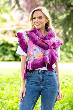 Felt Wool Scarf with butterfly patterns