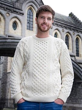 Men's Aran Cable Knit Sweater