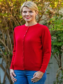 Castle of Ireland Cable Knit Cardigan
