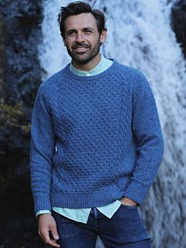 Donegal Crew Neck Aran Sweater