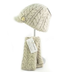 Aran Peak Cable Hat