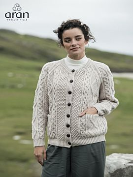 Ladies Handknit Merino Wool Cardigan