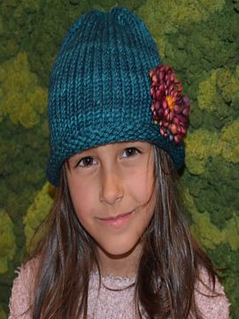 Handmade Super Soft Merino Wool Children's Hat Turquoise