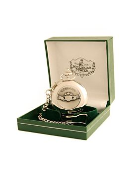 Ireland Claddagh Pewter Pocket Watch