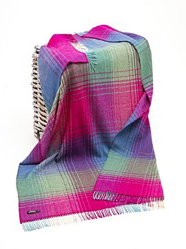 Wool and Cashmere Multi colour Throw