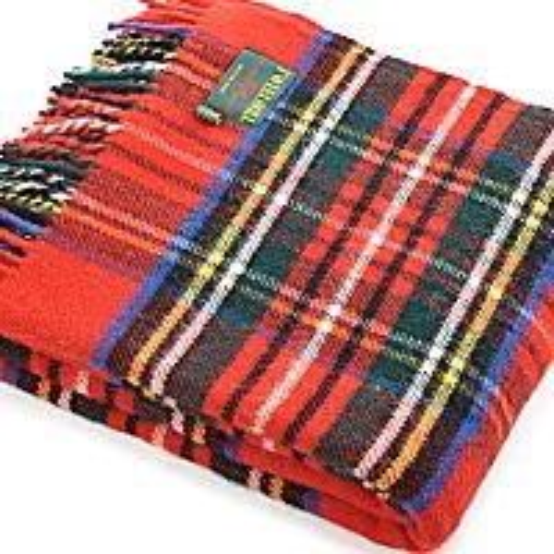 Pure Wool Tartan Travel Rug