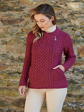 Super Soft Aran Zip Cardigan