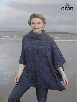 Super Soft Merino Wool One Size Poncho