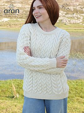 Super Soft Merino Wool Traditional Aran Sweater