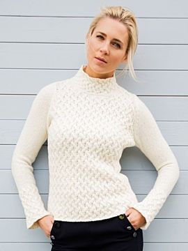 Wool and Cashmere Cosy Trellis Sweater