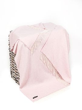 Wool and Cashmere Baby Pink Throw