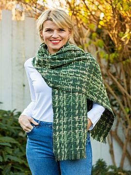 Double Sided Woven Wrap Green