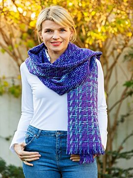 Double Sided Woven Wrap Purple