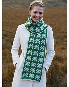 100% Merino wool shamrock scarf