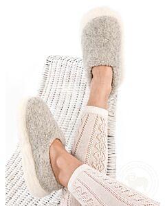 Light Grey Wool Slippers