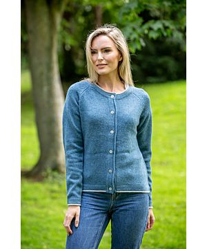 Ladies Wool and Cashmere Classic Cardigan