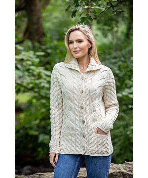 Super Soft Merino Wool Aran Cardigan