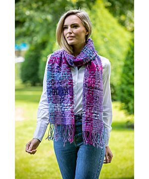 Suantrai of Ireland Scarf Purple Fuschia 87x15 in