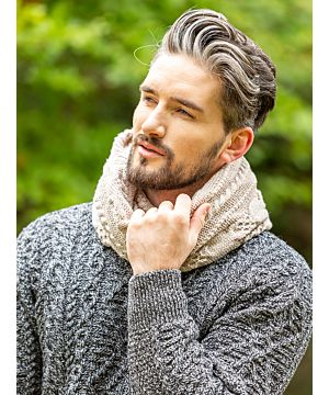 Super Soft Wool / Cashmere Blend Twisted Scarf - Beige