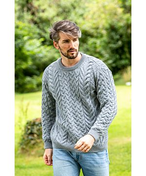 Unisex Super Soft Traditional Aran Sweater