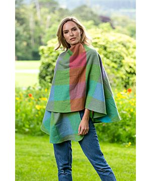 100% Lambswool Cape Multi Colours