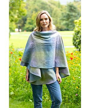 100% Lambswool Cape made In Ireland Lilac