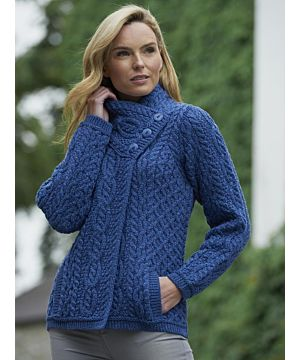 Aran Patterned Three Buttoned Jacket
