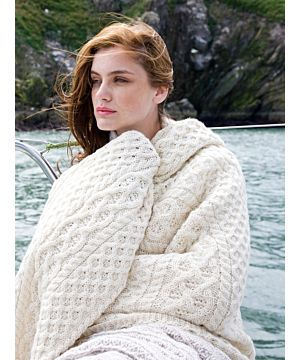 Aran Cable Knit Throw