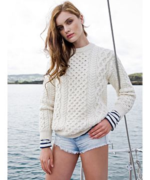 Womens Traditional Fisherman Sweater