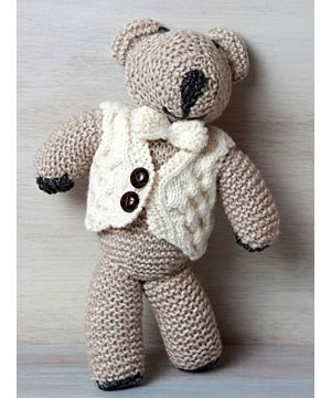 Kids Aran Hand made Teddy Bear