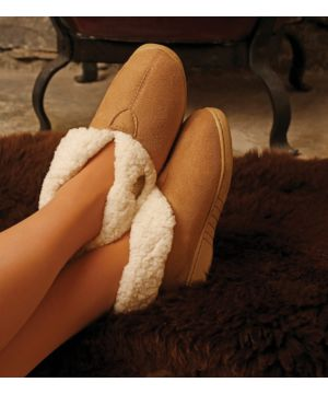 Adult Faux Suede Boot Slipper