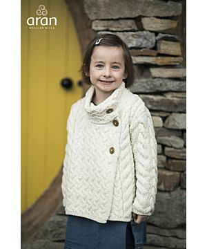 Aran Kids Multi Cable Cardigan