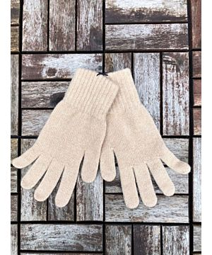 Ladies 100% Cashmere Gloves - Camel