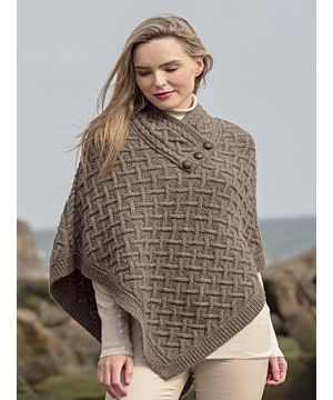 Super Soft Poncho Brown
