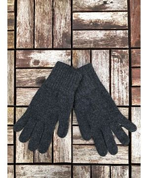 Ladies 100% Cashmere Gloves - Charcoal