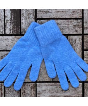 Ladies 100% Cashmere Gloves Blue