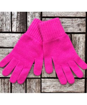 Ladies 100% Cashmere Gloves Pink