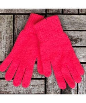 Ladies 100% Cashmere Gloves Coral