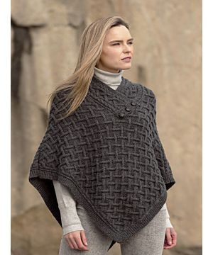 Super Soft Poncho Charcoal