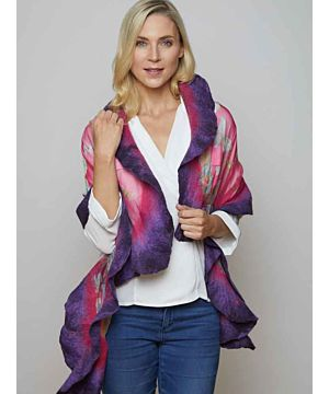 Felt Merino Wool and Silk Scarf