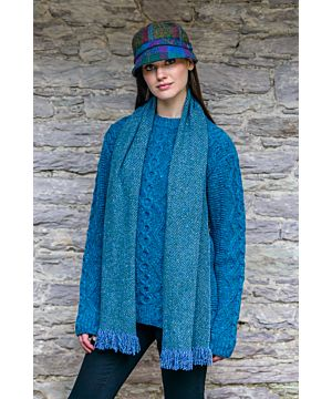 Ladies Irish Flapper Cap Blue Mix