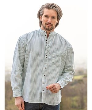 Traditional Grandfather Shirt Stripes SW893