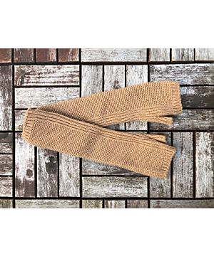 100% Cashmere Hand Warmers - Camel
