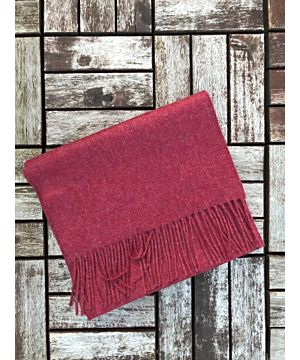 Luxurious 100% Cashmere Scarf - Wine
