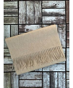 Luxurious 100% Cashmere Scarf - Camel