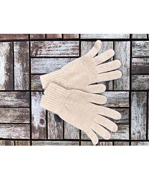 Ladies 100% Cashmere Gloves - Natural