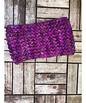 Super-soft  Snood - Handmade in Ireland - Rich Purple